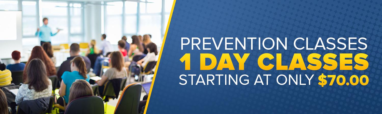 MDADS - Warren MI 1 Day Prevention Classes